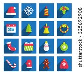 Set Of Flat Christmas Icons....