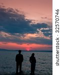 couple silhouette | Shutterstock . vector #32570746