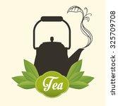 tea time concept with tea...   Shutterstock .eps vector #325709708