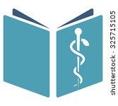 drug handbook glyph icon. style ... | Shutterstock . vector #325715105