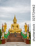 buddha statue in the temple of... | Shutterstock . vector #325724462