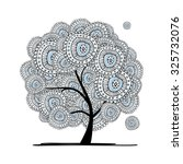 abstract floral tree for your... | Shutterstock .eps vector #325732076