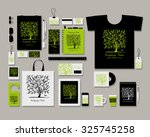 corporate flat identity mock up ... | Shutterstock .eps vector #325745258