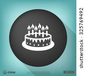 pictograph of cake | Shutterstock .eps vector #325769492