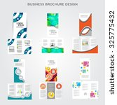 tri fold brochure design vector ... | Shutterstock .eps vector #325775432