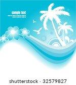 blue tropical background | Shutterstock .eps vector #32579827