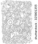 coffee and tea doodle...   Shutterstock .eps vector #325801355