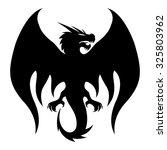 vector sign. dragon. | Shutterstock .eps vector #325803962