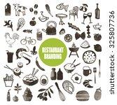 restaurant brand design... | Shutterstock .eps vector #325807736