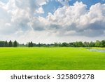 panorama view of beautiful... | Shutterstock . vector #325809278