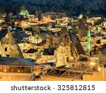 the night goreme  landscape... | Shutterstock . vector #325812815