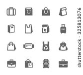simple set of bag related... | Shutterstock .eps vector #325813076
