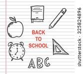 back to school doodle | Shutterstock .eps vector #325824896