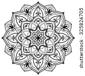 vector outline mandala on a... | Shutterstock .eps vector #325826705