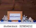blue christmas decoration on...   Shutterstock . vector #325854212