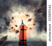 Small photo of Dynamite exploding
