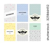 set of notebook covers with... | Shutterstock .eps vector #325866452