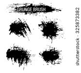 vector set of grunge brush... | Shutterstock .eps vector #325873382