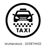 Taxi Cab Services Isolated...