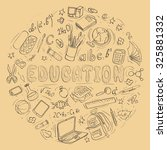 set of hand drawn education... | Shutterstock .eps vector #325881332