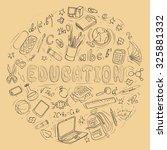 set of hand drawn education...   Shutterstock .eps vector #325881332