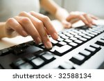 close up of female hands... | Shutterstock . vector #32588134
