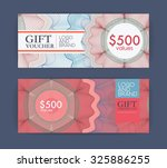 voucher template with premium... | Shutterstock .eps vector #325886255