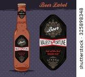 beer label design with gold...   Shutterstock .eps vector #325898348