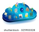 online business process...   Shutterstock .eps vector #325903328