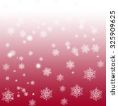 white snowflakes on a red and... | Shutterstock . vector #325909625