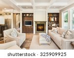 beautiful living room interior... | Shutterstock . vector #325909925