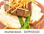 delicious tenderloin steak with ... | Shutterstock . vector #325910132