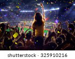 fans on stadium game  | Shutterstock . vector #325910216