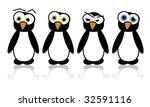 illustrated vector pinguins | Shutterstock .eps vector #32591116