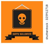 dead face skull icon. black... | Shutterstock .eps vector #325912718