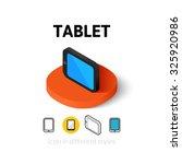 tablet icon  vector symbol in...