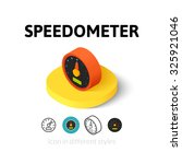 speedometer icon  vector symbol ...