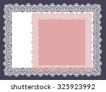 square lace doily | Shutterstock .eps vector #325923992