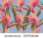 seamless tropical flower  plant ... | Shutterstock . vector #325928186