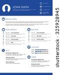 blue minimalistic personal... | Shutterstock .eps vector #325928945