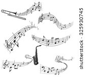 curly musical scores vector... | Shutterstock .eps vector #325930745