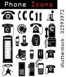 phone icons | Shutterstock .eps vector #32593972