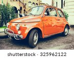 rome   october 12  red fiat 500 ... | Shutterstock . vector #325962122