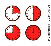 set of simple watch icon in... | Shutterstock .eps vector #325964705