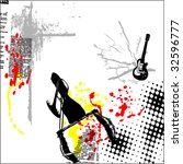 vector grunge background... | Shutterstock .eps vector #32596777