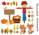 vector illustrations of fall... | Shutterstock .eps vector #325972148