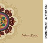 happy diwali colorful rangoli... | Shutterstock .eps vector #325985582