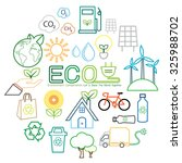 ecology line icon | Shutterstock .eps vector #325988702