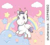 princess rainbow in the sky | Shutterstock .eps vector #325998002