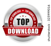 red top download badge with...